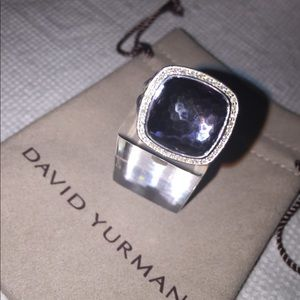 DAVID YURMAN ALBION RING 14mm BLACK ORCHID